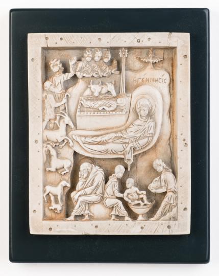 Geburt Christi Relief, byzantinisch, um 1000.