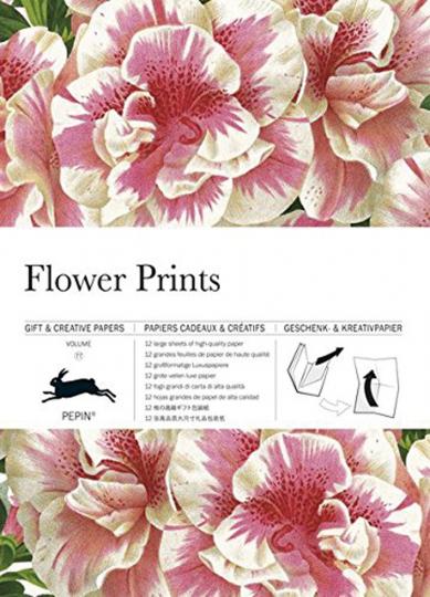 Geschenkpapier Blumenmotiv.