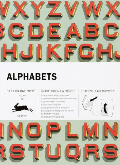 Geschenkpapier »Alphabete«.