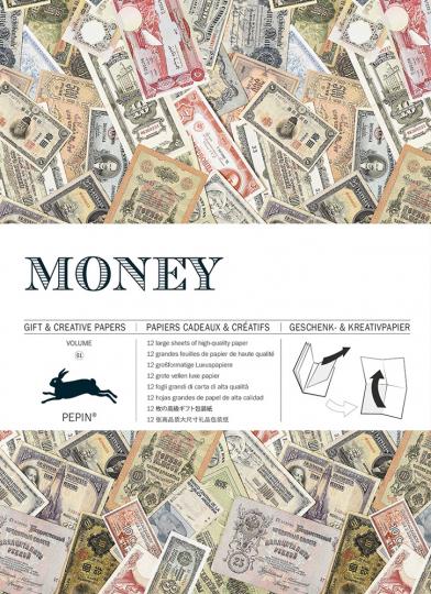 Geschenkpapier »Geld«.