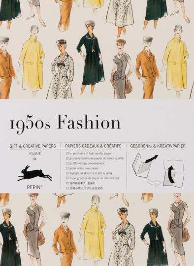 Geschenkpapier »Mode der 1950er-Jahre«.
