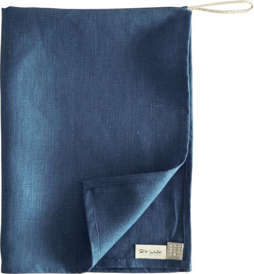 Geschirrhandtuch aus Leinen, dunkelblau.