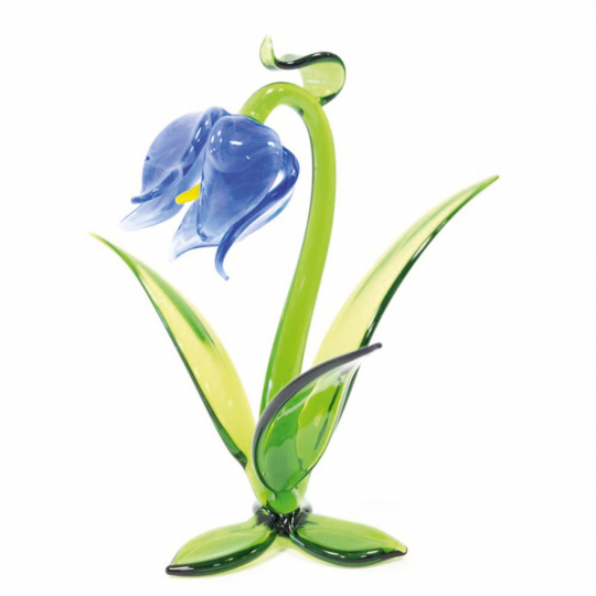 Glasblume Glockenblume, blau.