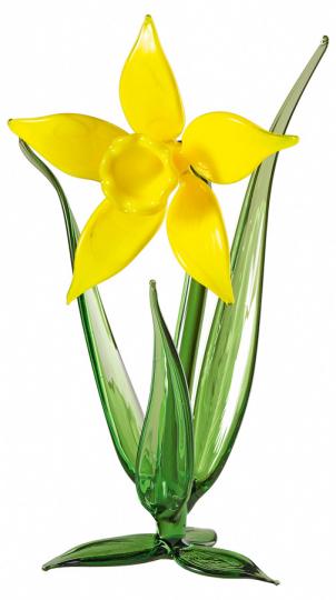 Glasblume »Osterglocke«, gelb.