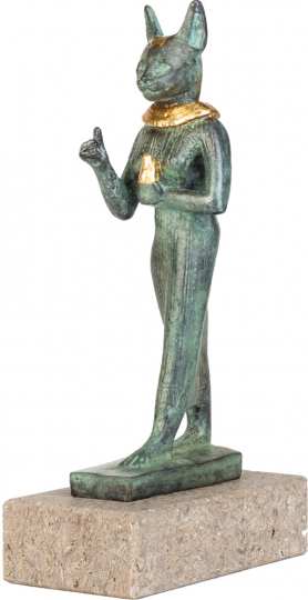 Göttin Bastet. Ägypten, 500 v. Chr.