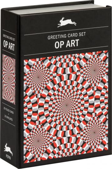 Grußkarten Set »Op Art«. Optische Illusionen.