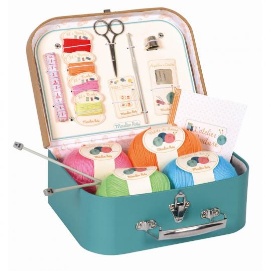 Handarbeitskoffer für Kinder.