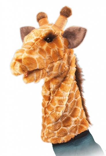 Handpuppe Giraffe.