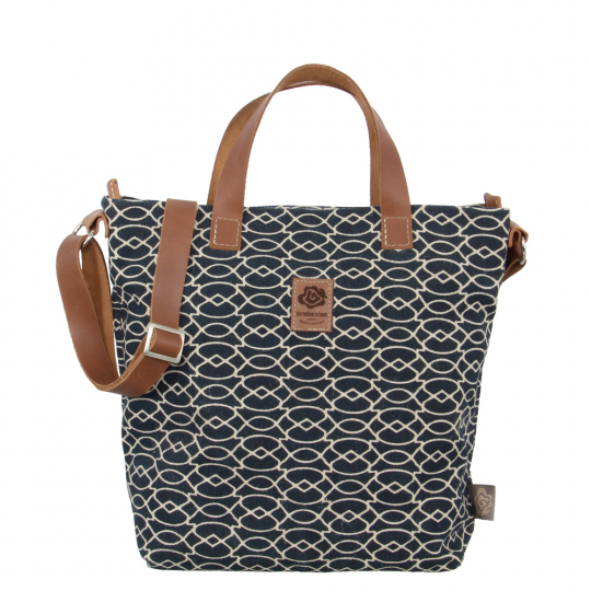 Handtasche aus Leinen »Ada light dunkelblau«.