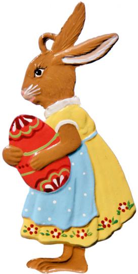 Hasenmädchen mit Ei.