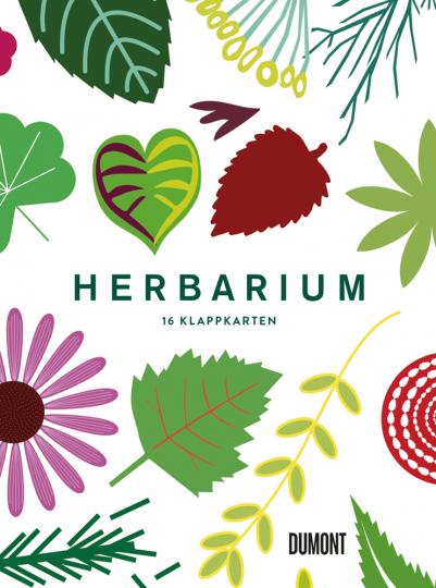 Herbarium. 16 Klappkarten. Postkartenset.