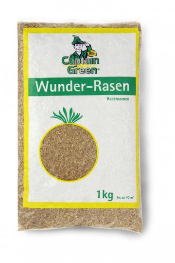 Hochwertige Gräsermischung »Wunder-Rasen«.