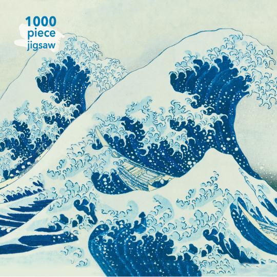 Kunstpuzzle mit 1000 Teilen. Hokusais »The Great Wave«.