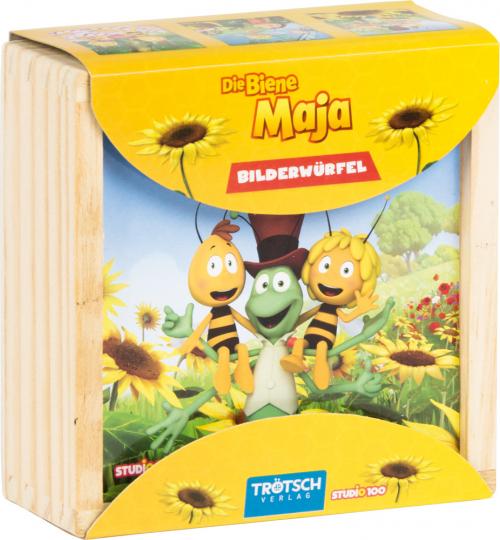 Holz-Bilderwürfel »Die Biene Maja«.