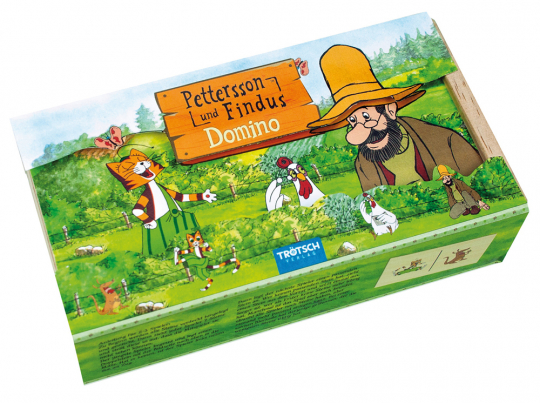 Holz-Domino »Pettersson und Findus«.