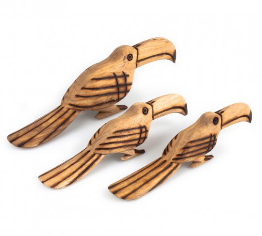 Holzvogel Tukan.