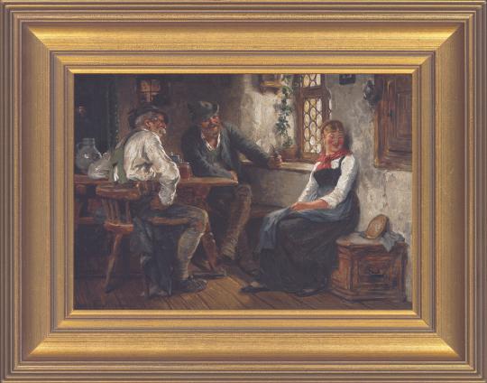 In der Wirtsstube. Hugo Kauffmann (1844 - 1915).