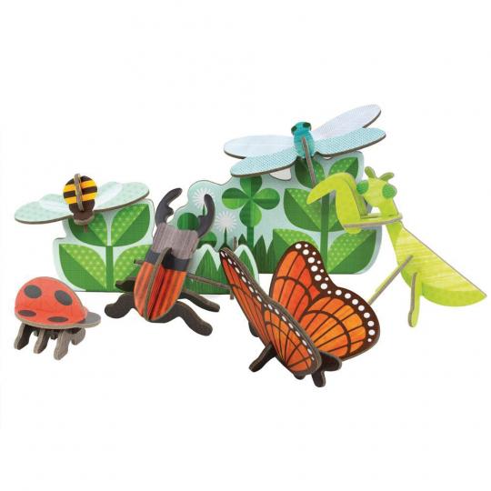 Insekten. Deko-Set zum Heraustrennen.