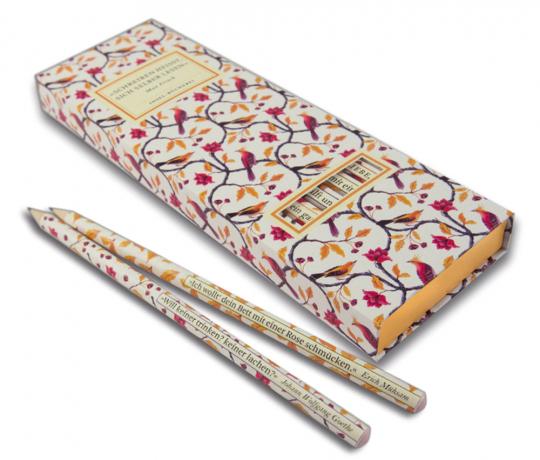 Insel Bücherei Bleistift-Set II. 6 Bleistifte mit Zitaten.
