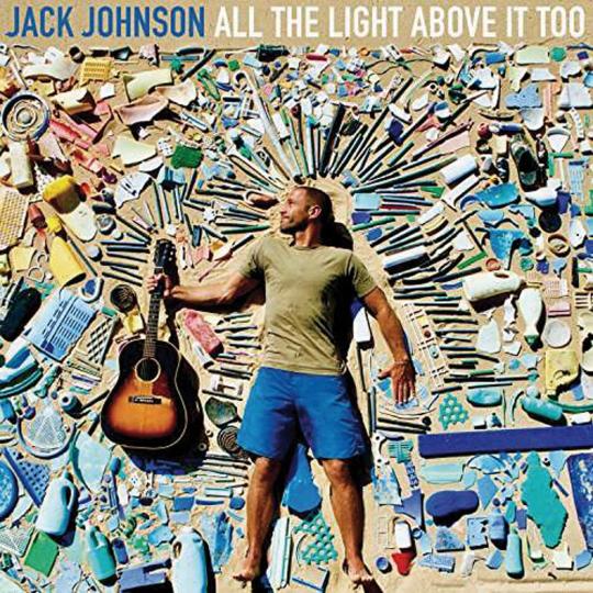 Jack Johnson. All the Light above it too. Vinyl-LP.