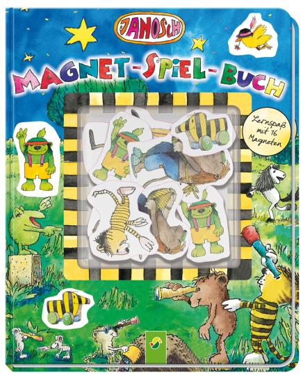 Janosch Magnet-Spiel-Buch. Lernspaß mit 16 Magneten.