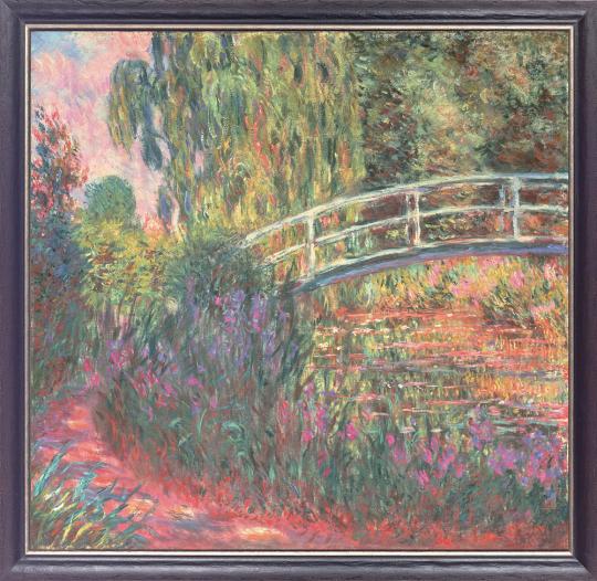 Japanische Brücke im Garten von Giverny. Claude Monet (1840-1926).