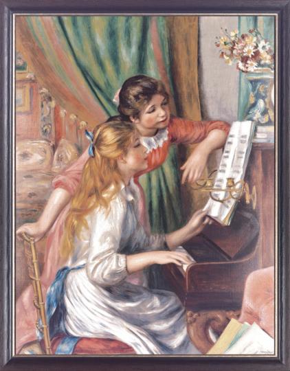 Junge Mädchen am Klavier. Auguste Renoir (1841-1919).