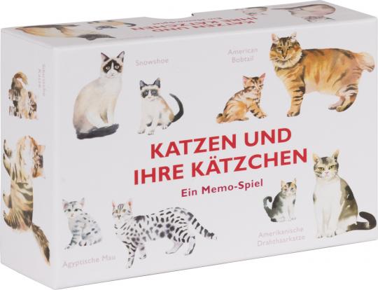 Katzen und ihre Kätzchen. Ein Memo-Spiel.
