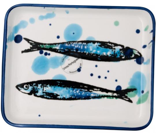 Keramik-Schale »Sardinen«, 16 cm.