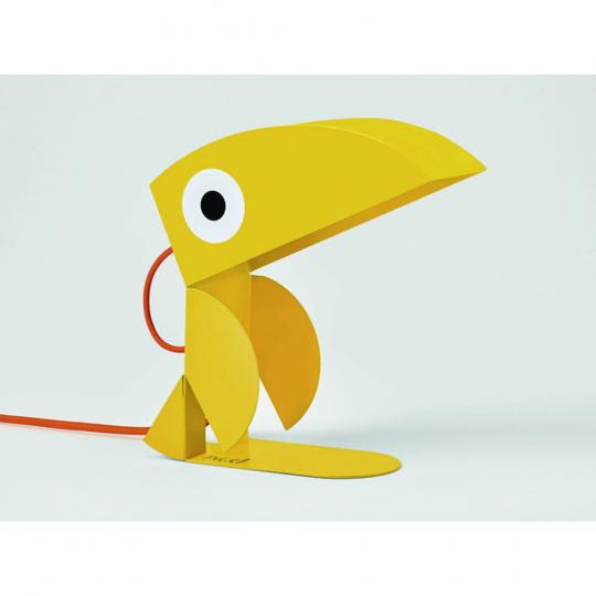Kinderlampe Tukan, gelb.