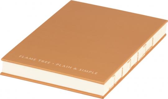 Kleines Skizzenbuch mit linierten Seiten, braun. Koptische Bindung.