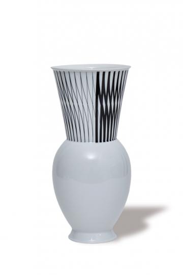 KPM Vase »Halle 3«. Rasch Dekor. Bauhaus.