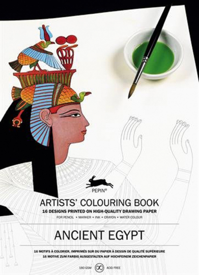 Künstler-Malbuch »Ancient Egypt«.