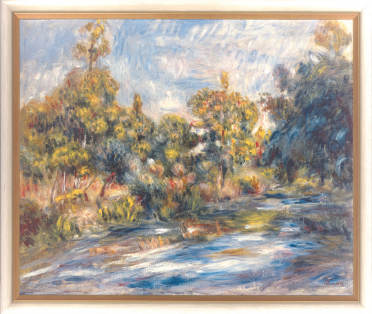 Landschaft mit Fluss. Auguste Renoir (1841-1919).