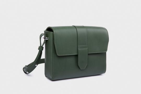 Lederhandtasche »Berit«, grün.