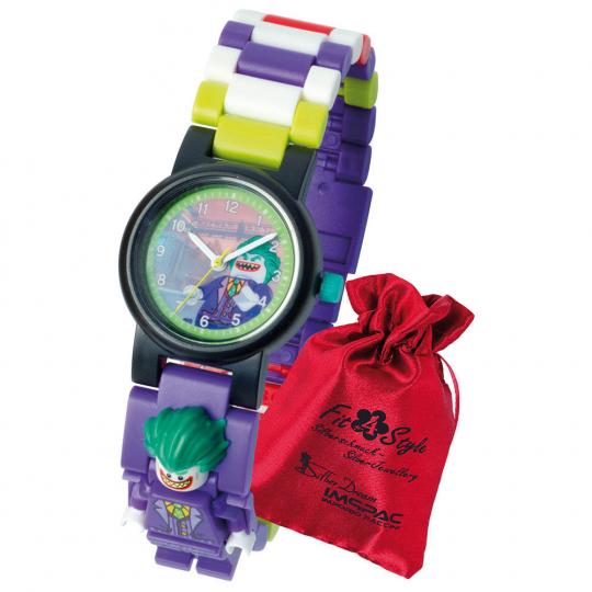 LEGO Joker Kinder-Armbanduhr mit Minifigur.