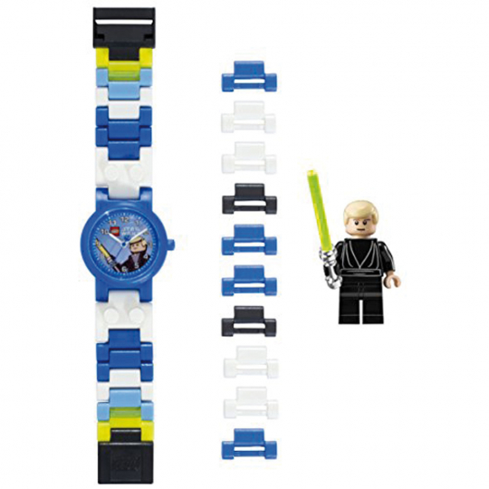 LEGO Luke Skywalker Kinder-Armbanduhr mit Minifigur.