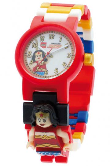 LEGO Wonder Woman Kinder-Armbanduhr mit Minifigur.