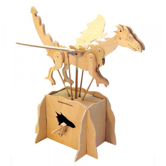 Leonardo da Vinci Fliegender Drache. Holzkonstruktion.