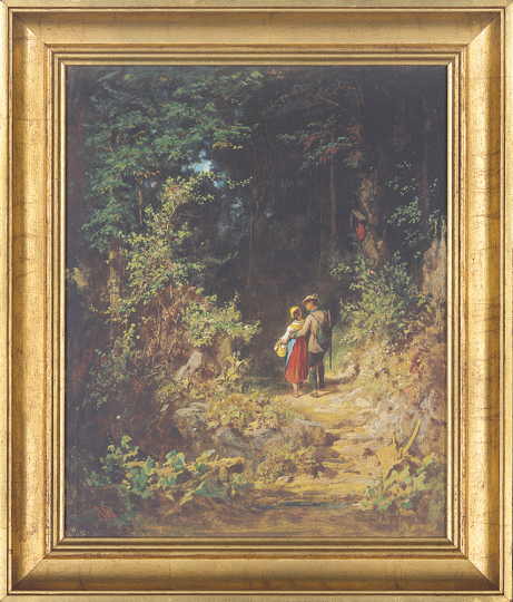 Liebespaar im Walde. Carl Spitzweg (1808-1885).