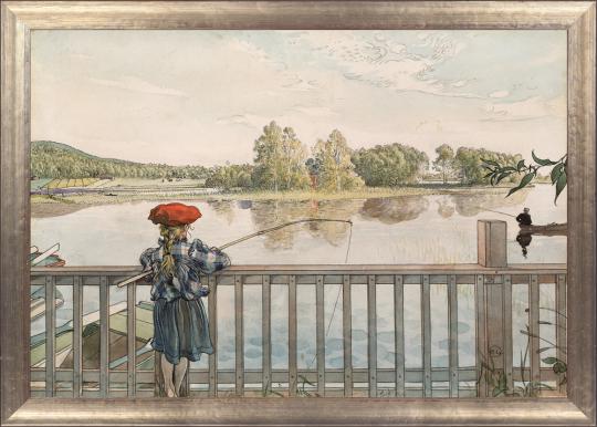 Lisbeth angelt. Carl Larsson (1853-1919).