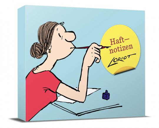Loriot Haftnotizen - Für die Dame. Notizzettel-Box.