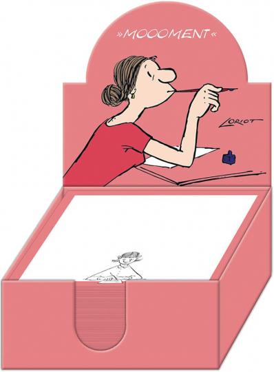 Loriot Zettelbox Dame. Humorvoll notiert. Notizzettel für Ihre Gedanken und Ideen.