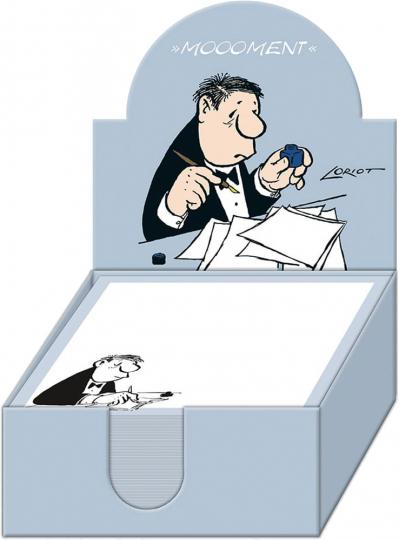 Loriot Zettelbox Herr. Humorvoll notiert. Notizzettel für Ihre Gedanken und Ideen.
