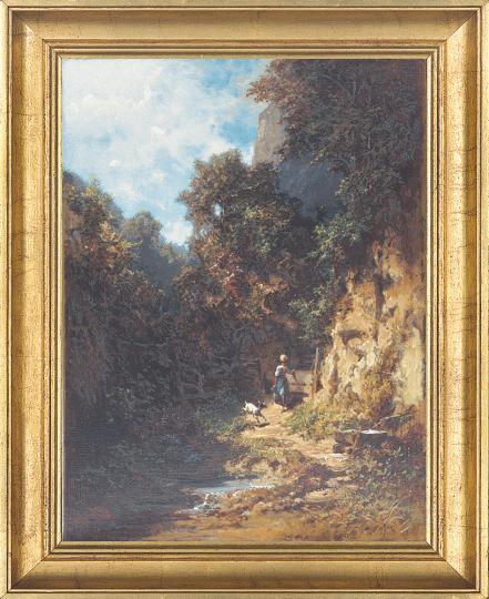 Mädchen mit Ziege. Carl Spitzweg (1808-1885).