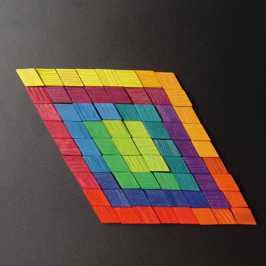 Magnet Relief Mosaik, Rhomben.