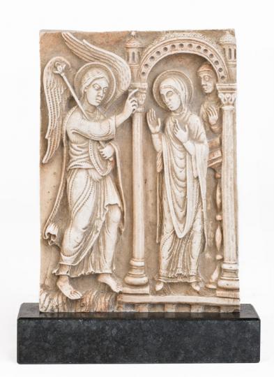 Mariä Verkündigung Relief. Deutschland, um 1180.