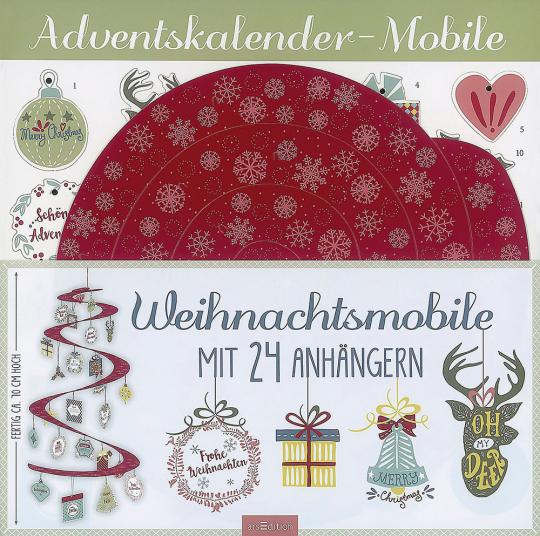 »Merry Christmas!« Weihnachts-Mobile mit 24 Anhängern.