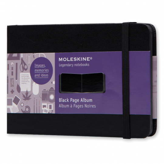 Moleskine Album schwarze Seiten Pocket DIN A6.