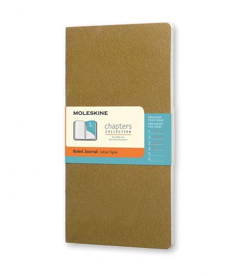 Moleskine Chapter-Notizheft Slim Medium Liniert Olive.